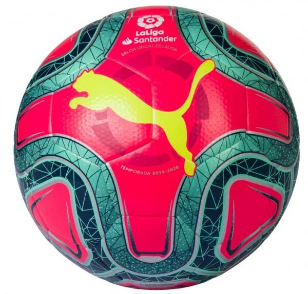 Puma LaLiga 1 Hybrid Trainingsball, Gr. 5 , pink/green/yellow