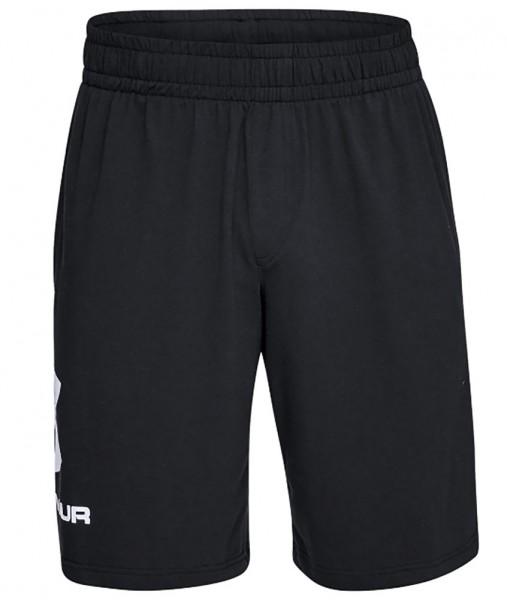 Under Armour Herren Sportstyle Shorts aus Baumwolle mit Logo, schwarz
