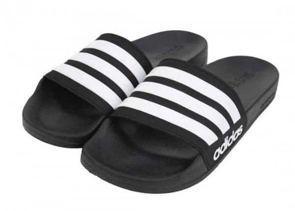 adidas ADILETTE SHOWER AQ1701, schwarz weiß, Badeschlappe
