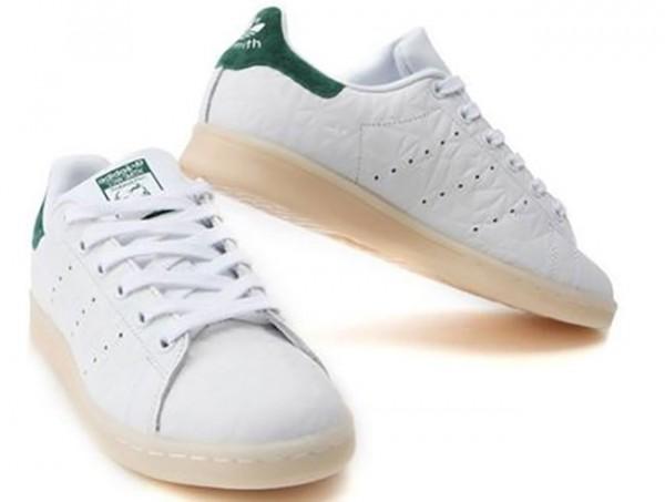 Adidas STAN SMITH S82253 weiß/grün strukturiertes Leder Damen/Herren