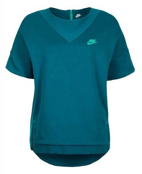 Nike Damen Tech Fleece Crew Sweatshirt, petrol, 803581